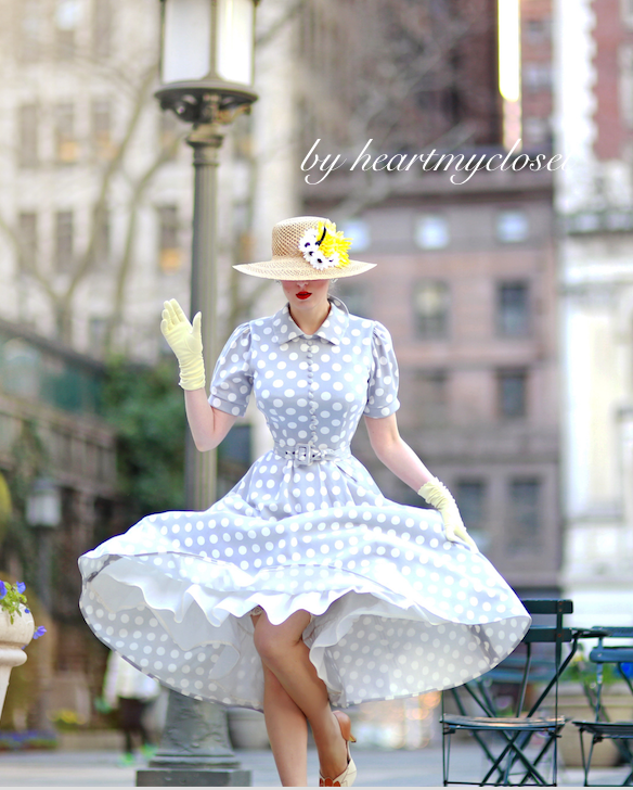 polkadot - vintage inspired 50s dress swing
