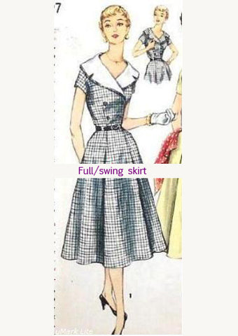 Annie - 1950s vintage dress wide collar