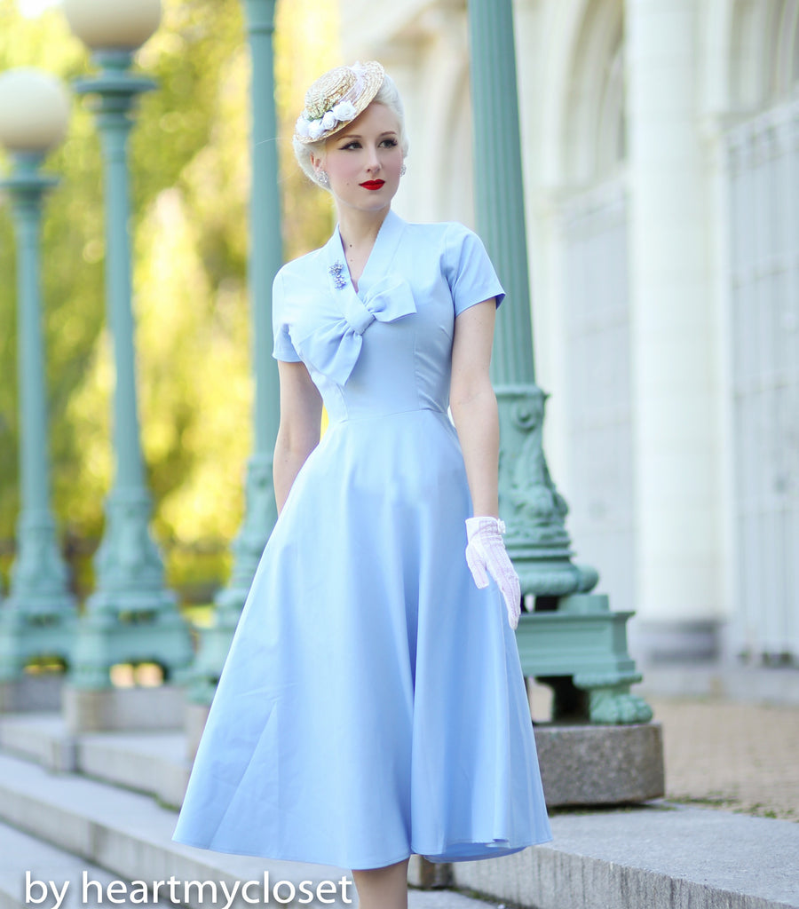 Rita - Marilyn Monroe dress with bow - heartmycloset