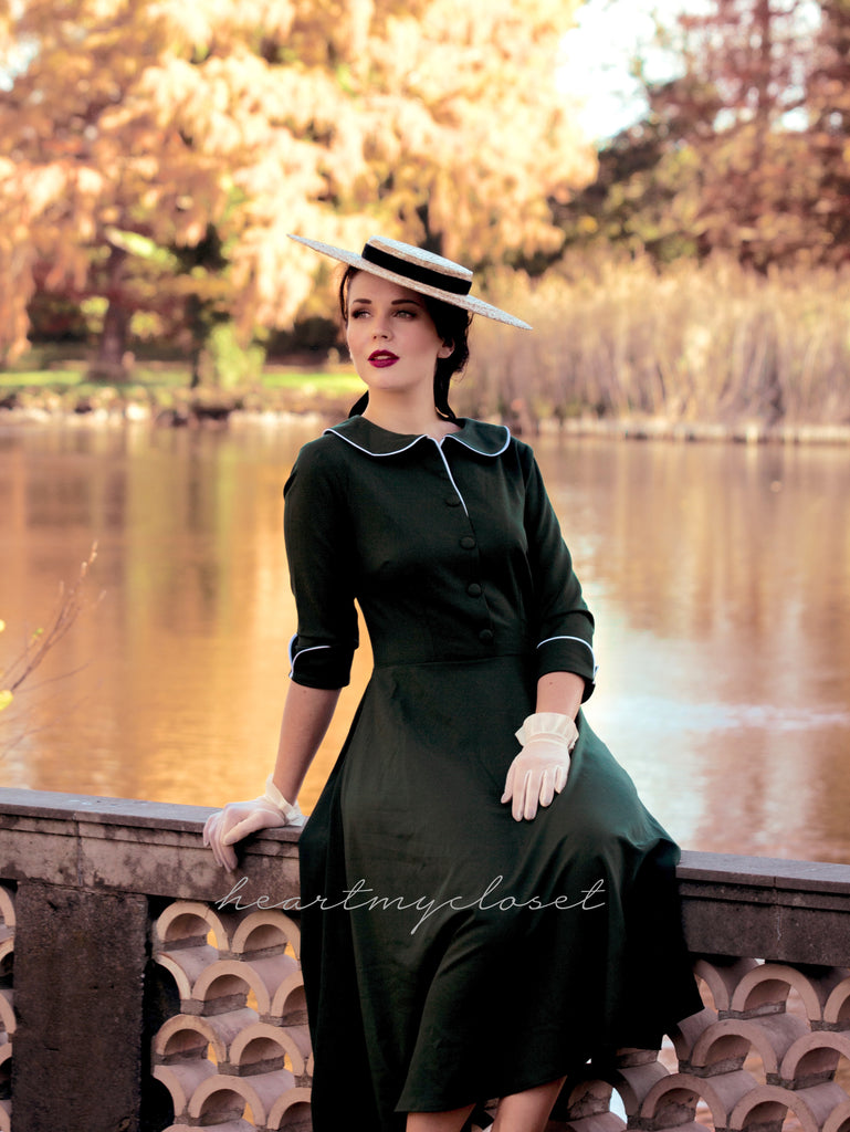 Joelle-2 - vintage 1950s swing dress