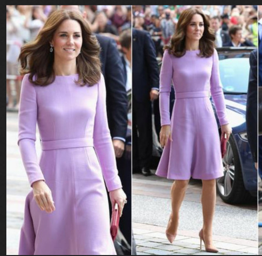 kate middleton royal purple - dress swing rockabilly celeb inspired coat dress custom made - heartmycloset