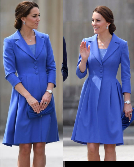 kate middleton blue dress - swing rockabilly celeb inspired coat dress custom made - heartmycloset