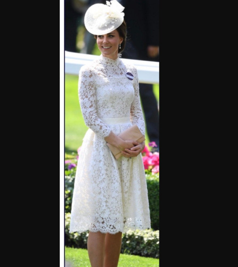 Kate Middleton white lace - cocktail dress - heartmycloset