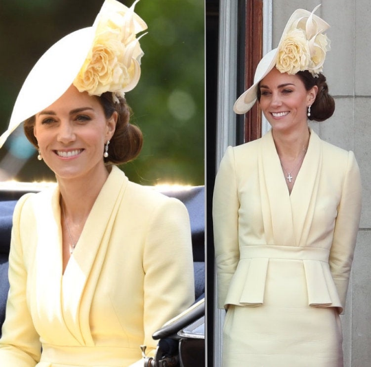 Kate Middleton light yellow - pencil dress with peplum - heartmycloset