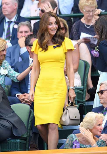 Kate Middleton bright yellow - pencil dress with short sleeves - heartmycloset