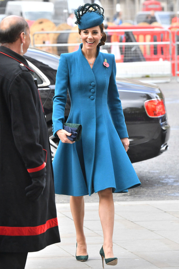 coat dress blue - Kate Middleton inspired dress
