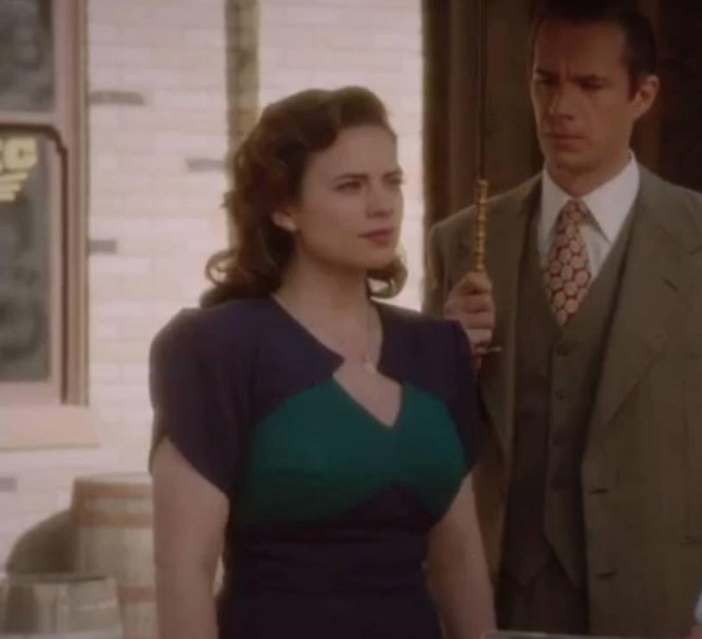 Agent carter - cosplay green purple dress - heartmycloset