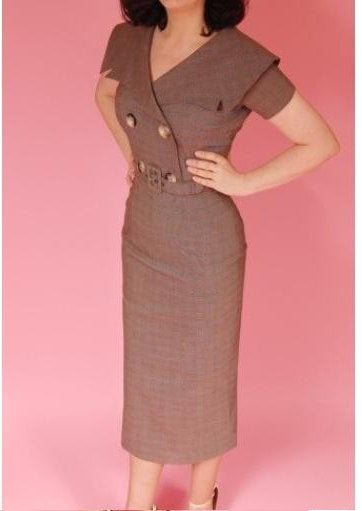 vintage pinup pencil dress 50s