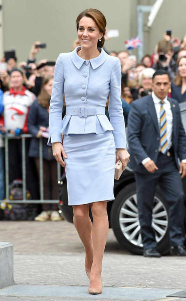 pale blue pencil dress - Kate Middleton inspired