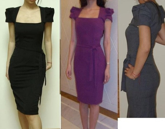Original galaxy - celebrity pencil wiggle dress pleated sleeves - heartmycloset