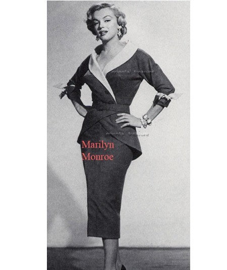 old hollywood - glamour Marilyn Monroe style suit - heartmycloset