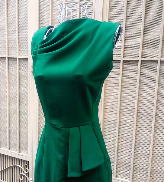 Allisa - pencil wiggle dress green