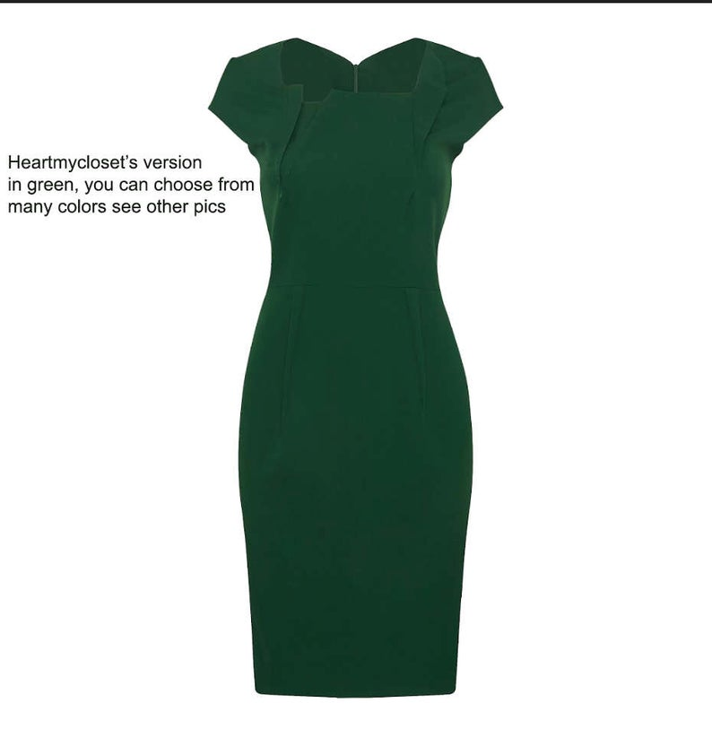 Premier - wiggle pencil dress with pleats from famous TV - heartmycloset