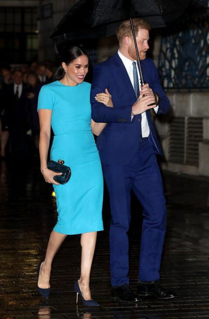 Blue dress - Meghan Markle inspired dress