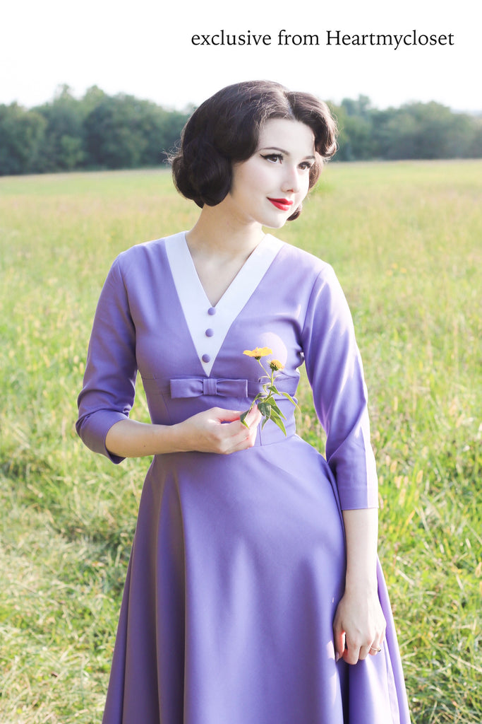 Agent Carter - purple dress - heartmycloset