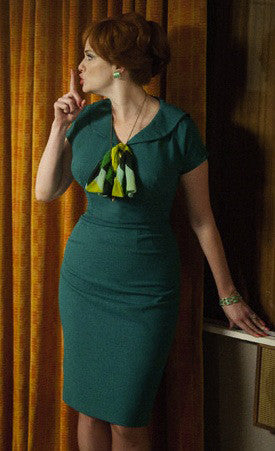 Helena - retro wiggle dress with chiffon tie