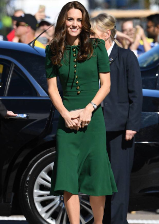 green crepe - kate middleton inspired crepe dress - heartmycloset