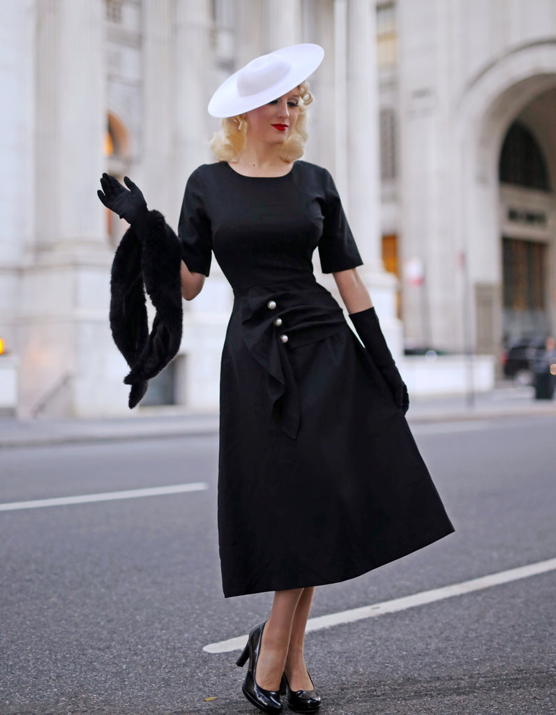 LBD with pearls - vintage inspired dress
