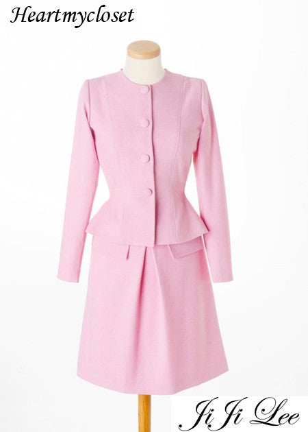 ELAINE - retro style suit with Aline skirt - heartmycloset
