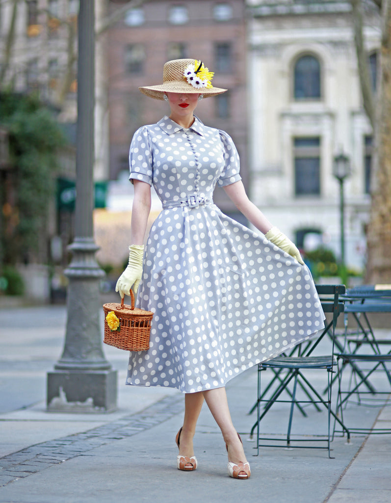 polkadot - vintage inspired 50s dress swing - heartmycloset