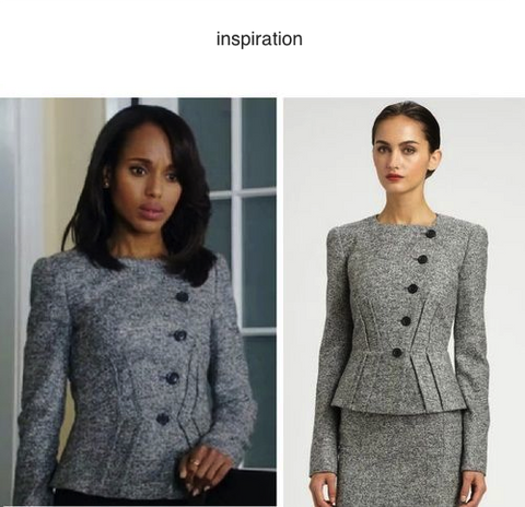 Olivia Jacket - grey jacket or suit with pencil skirt