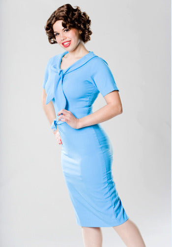 Erin - Mad Men pencil dress with tie - heartmycloset
