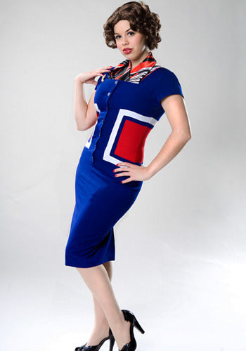 Grace - Joan Holloway pencil dress colorblock - heartmycloset