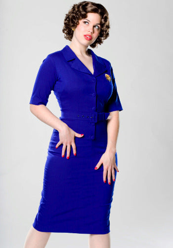 Sheila - Joan Holloway vintage pencil dress blue - heartmycloset