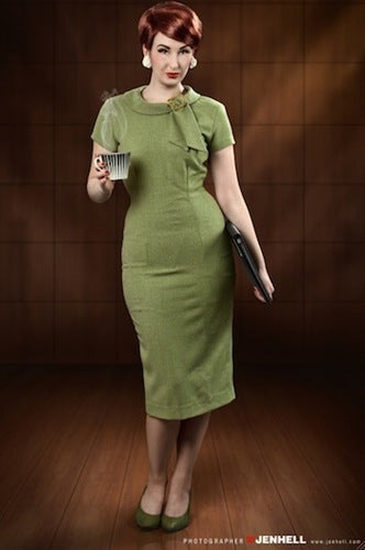 Tiffany - green Joan Holloway wiggle dress - heartmycloset