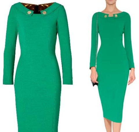 classy pencil - wiggle dress long sleeves - heartmycloset