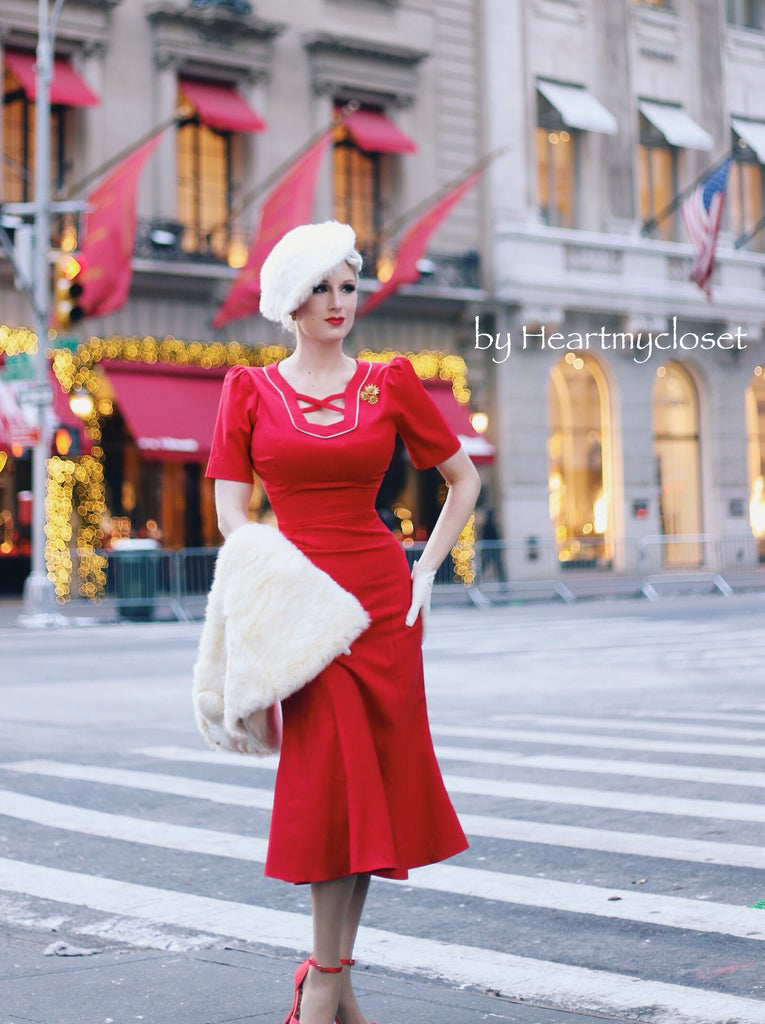 Agent carter - cosplay red dress - heartmycloset
