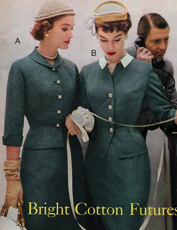 Catalina - 1950s vintage suit with pearl like buttons - heartmycloset