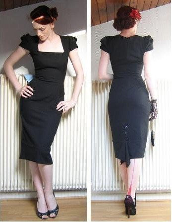 UNIQUE dress- Black or Red - heartmycloset