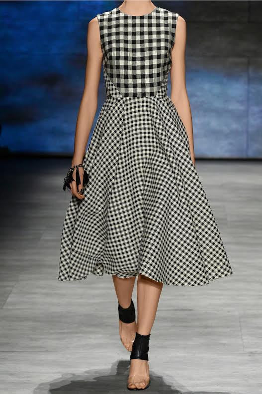 gingham - swing dress runway style - heartmycloset