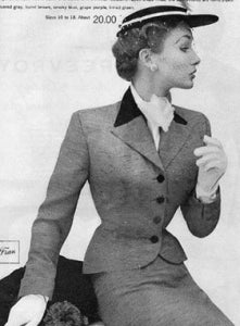 Vaness - 50s vintage suit with velvet trim
