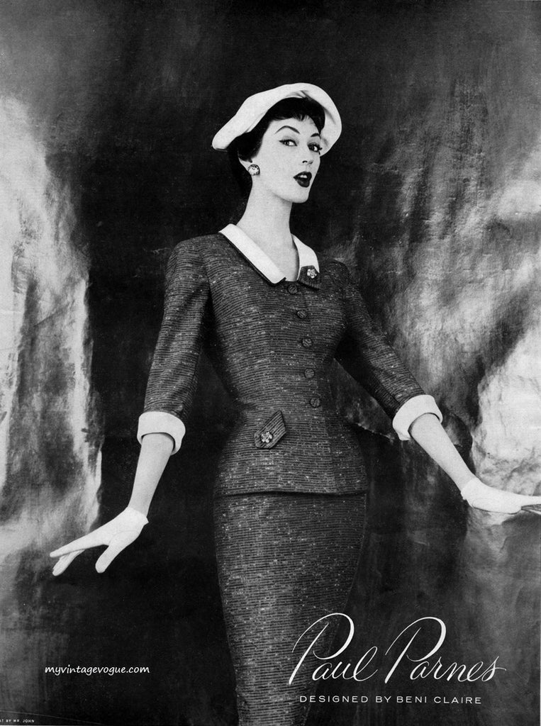 Catalina-1 - 1950s retro suit with pencil skirt - heartmycloset