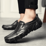Vintage Wearable Slip On Driving Loafers Casaul Leather Shoes