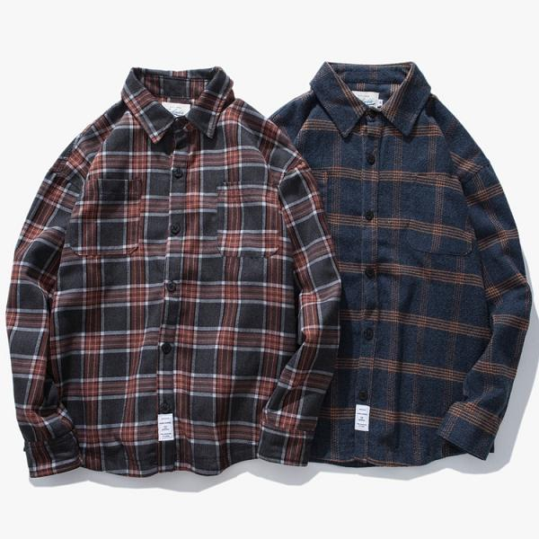 Original Design Plaid Long Sleeves Shirt