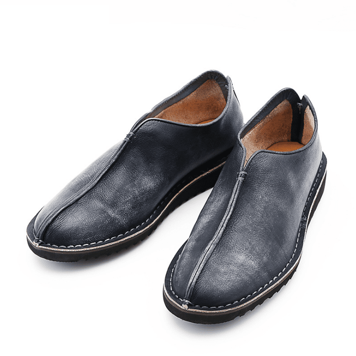 Genuine Leather Vintage Slip On Shoes