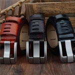 Cow Genuine  Leather Pin Buckle Men Belts