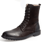 Men Vintage Genuine Leather High Top Boots