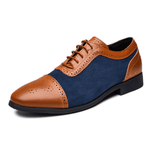 Men Carved  Business Formal Leather Shoes