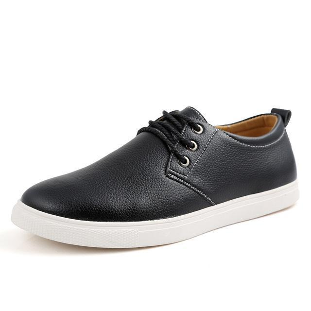 Men Driving Breathable Casual Leather Shoes