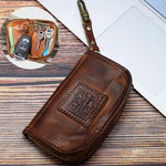 Vintage Genuine Leather Storage Bag