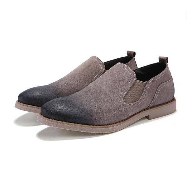 Men Suede Leather Slip On Casual Loafers