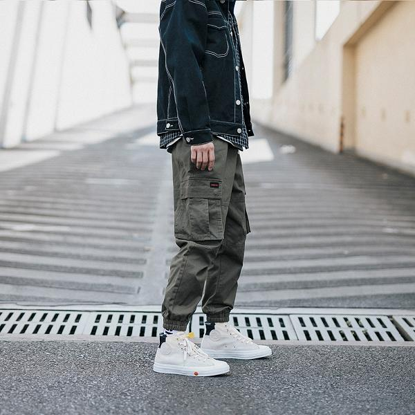 Multi-pocket Casual Ankle-tied Cargo Pants