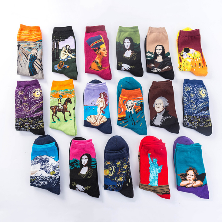 Famous Person Pattern Socks