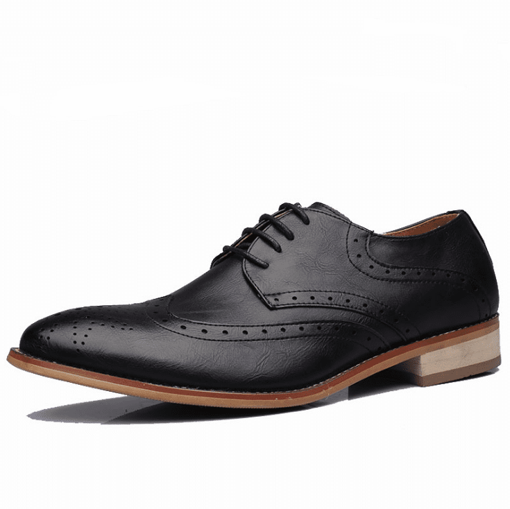 Men Carved Vintage Style Oxfords Business Formal Shoes