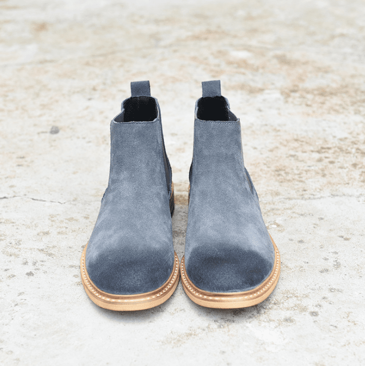 High Top Vintage Leather Chelsea Boots