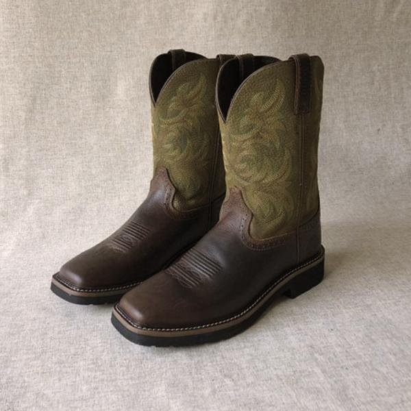 Genuine Cow Leather Cowboy Boots
